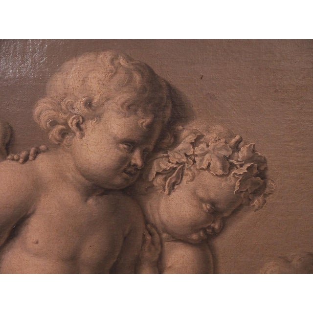 18th Century Framed French Grisaille Painting on Canvas For Sale In New Orleans - Image 6 of 6