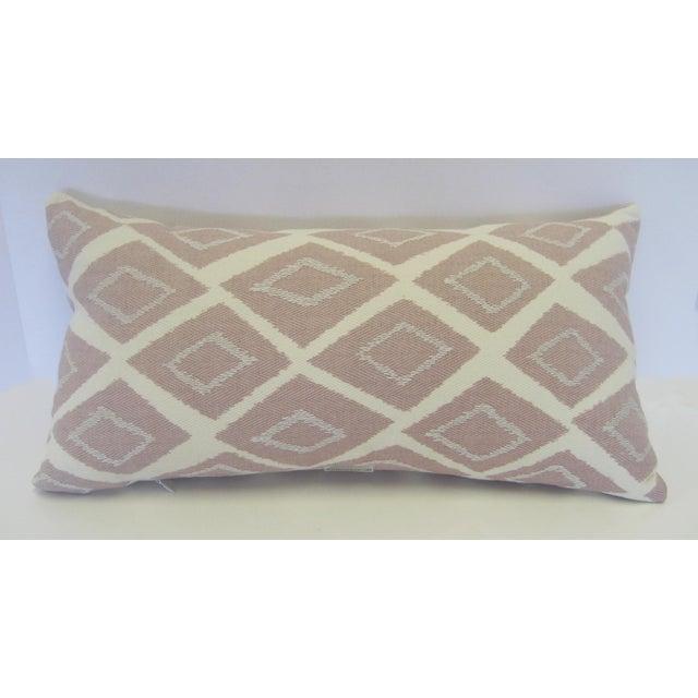 Mid-Century Geometric Pink Lumbar Pillow - Image 4 of 4