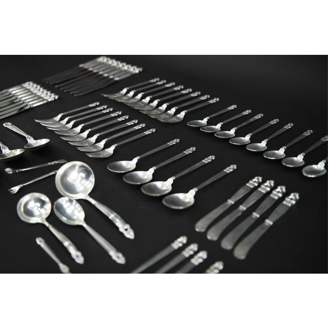 International Silver Royal Danish Sterling Silver Flatware - 60 Piece Set For Sale - Image 9 of 10