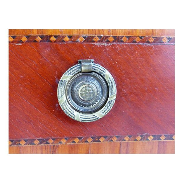 Marquetry & Inlay Marble Top Chest For Sale - Image 10 of 11