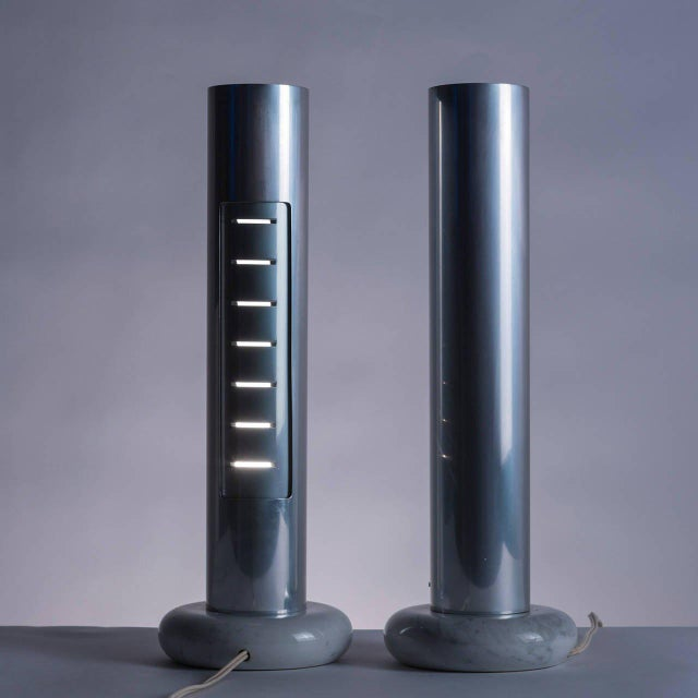 "1970s Rare Pair of ""Morgana"" Table Lamps by Enrico Panzieri for Sormani For Sale - Image 5 of 11"