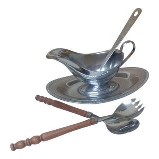 Gravy Serving Set with Ladle and Serving Utensils - 5 Pieces For Sale