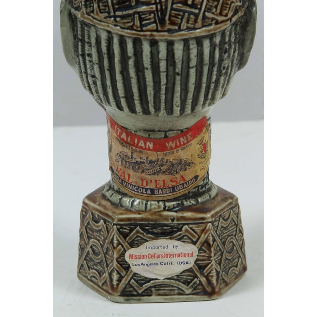 African Benin Queen Mother Commemorative Ceramic Head by the Edo People For Sale - Image 4 of 10