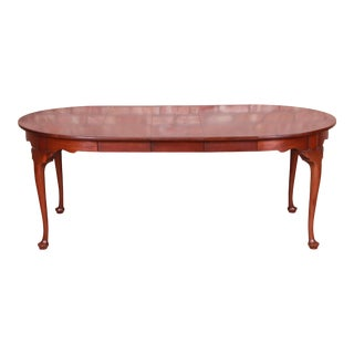 Henkel Harris Queen Anne Mahogany Extension Dining Table For Sale