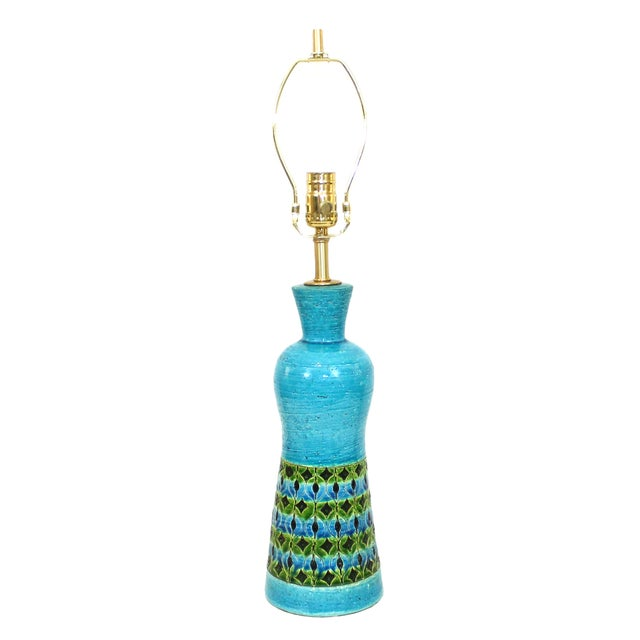 Bitossi Raymor Rimini Blue Pottery Lamp - Image 1 of 7