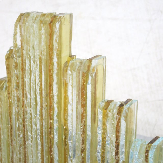 Hollywood Regency Murano Glass Icicles Stacked Sconces by Poliarte - a Pair For Sale - Image 3 of 9