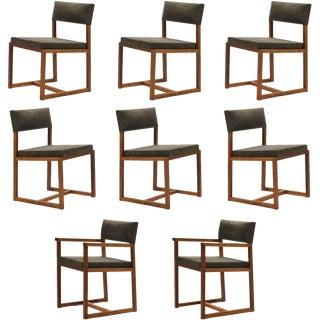 De La Espada Black Walnut Dining Chairs For Sale