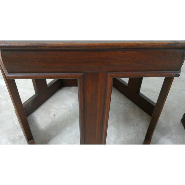 1960s Mid-Century Modern Brown and Saltman End Tables - a Pair For Sale In Los Angeles - Image 6 of 12
