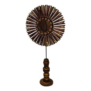 Shelled Giltwood Starburst on Stand