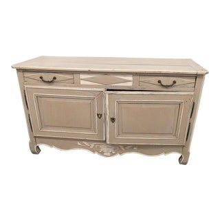 Antique Distressed Painted Cabinet For Sale
