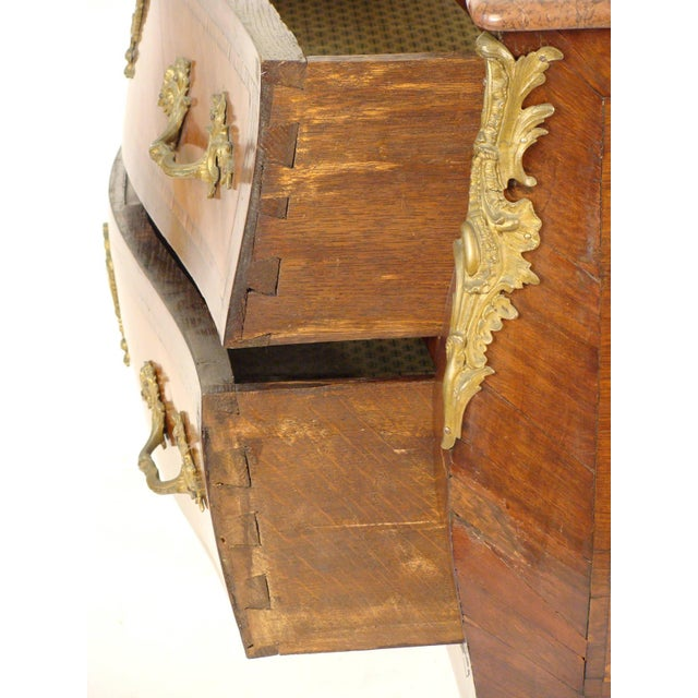 Late 19th Century Louis XV Style Bombe Commode For Sale - Image 9 of 11