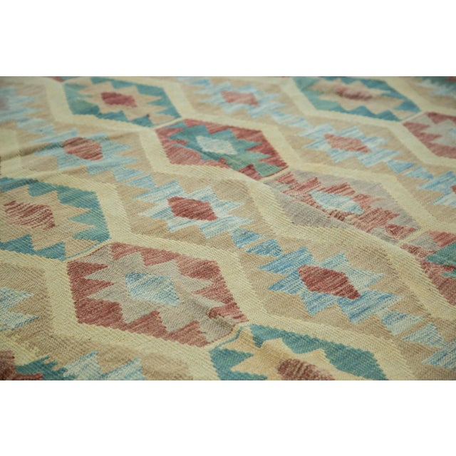 "Geometric Medallion Kilim Carpet - 8'2"" X 11'3"" For Sale - Image 7 of 8"
