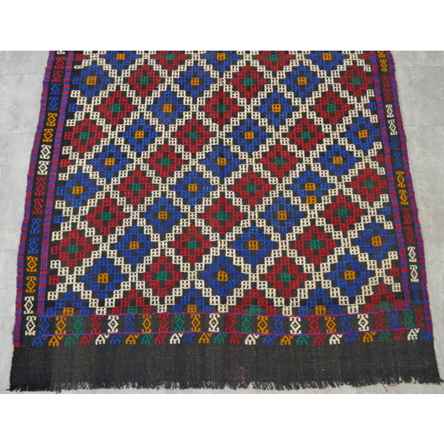 """Hand-Woven Rug Kilim Braided Nomadic Rug - 5' X 8'4"""" For Sale - Image 9 of 12"""