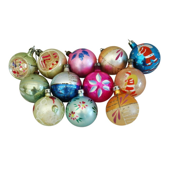 1960s Christmas Ornaments with Box - Set of 12 - Image 1 of 8