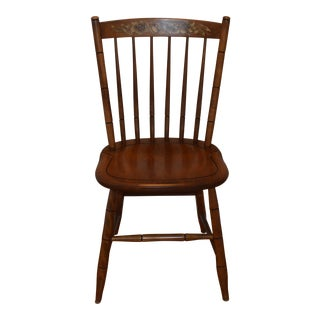 Vintage L. Hitchcock Maple Harvest Dining Side Chair For Sale