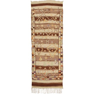 Mid 20th Century Moroccan Glaoua Rug- 4′4″ × 12′8″ For Sale