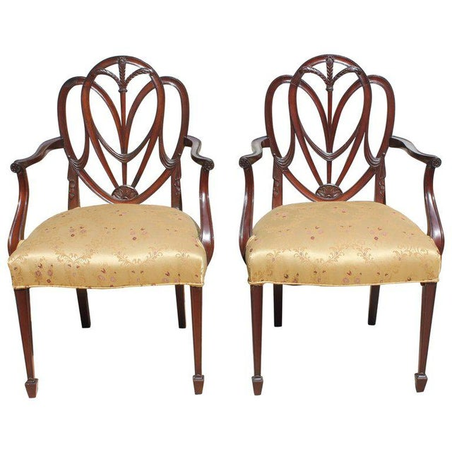 19th Century French Solid Mahogany Chairs- a Pair For Sale - Image 13 of 13