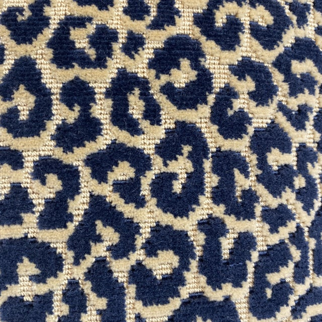 """2010s Scalamandre """"Panthera Velvet"""" in Indigo 22"""" Pillows-A a Pair For Sale - Image 5 of 7"""