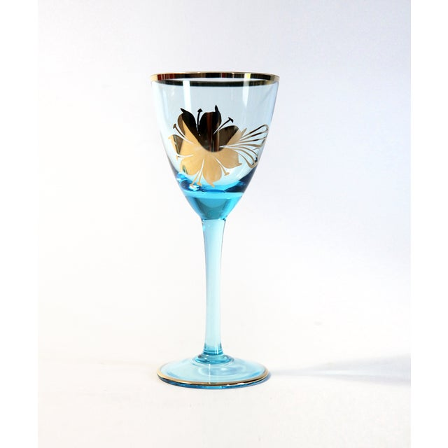 Blue Carafe With Glasses - Set of 9 - Image 4 of 6