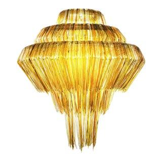 Brilli B Chandelier in Gold Resin by Jacopo Foggini For Sale