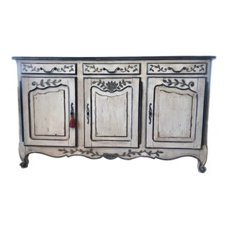 19th Century French Provencal Original Painted Buffet For Sale