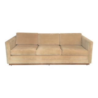 1960s Mueller Widdicomb Plinth Base Sofa For Sale