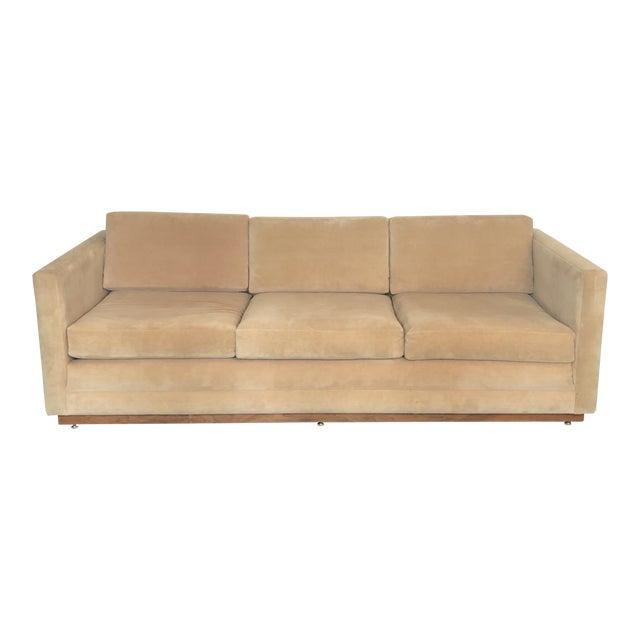 1960s Mueller Widdicomb Plinth Base Sofa For Sale