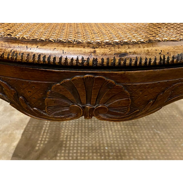 Wood Mid 18th Century French Cane Arm Chair For Sale - Image 7 of 11