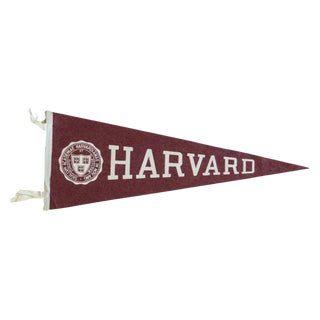 Vintage Harvard Felt Flag Pennant For Sale