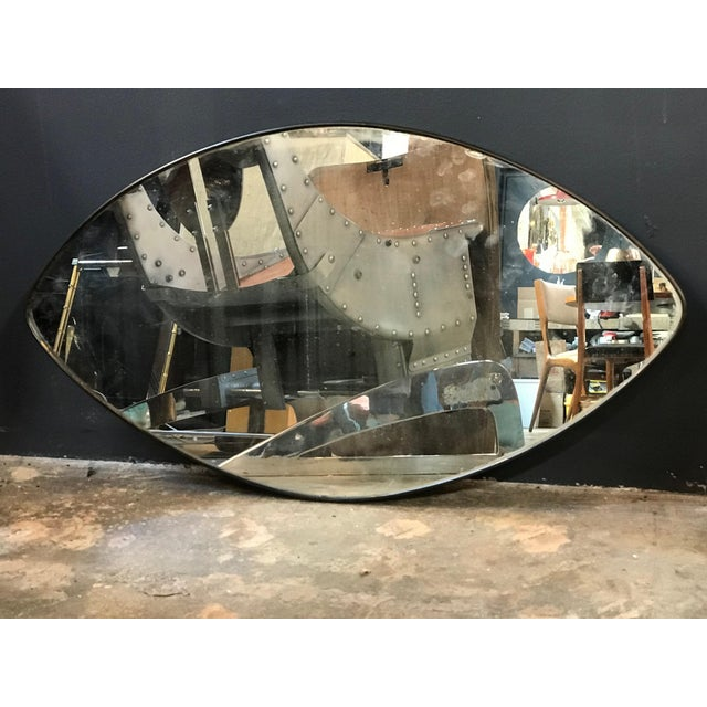 Italian Midcentury Oval Brass Wall Mirror, 1950s For Sale - Image 4 of 10