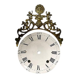 19th-C. Enamel & Bronze Clock Face For Sale