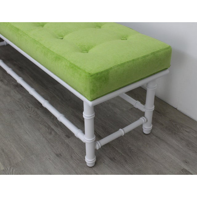 Mid-Century Palm Beach Style Bench For Sale In Miami - Image 6 of 9