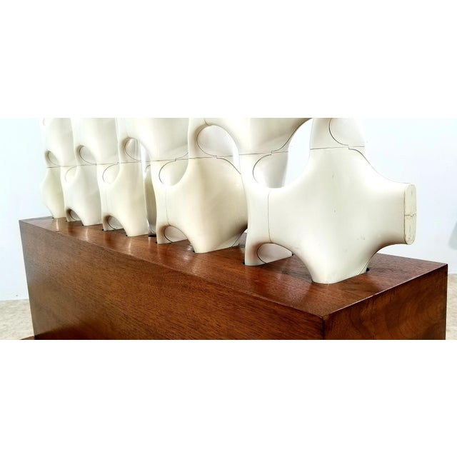 1960s Mid Century Richard Harvey Contemporary 'Sculpta-Bone Grille' Screen For Sale - Image 9 of 13