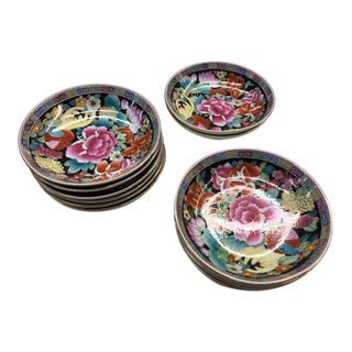 Late 20th Century Mille Fleur Chinese Porcelain Bowls - Set of 12 For Sale