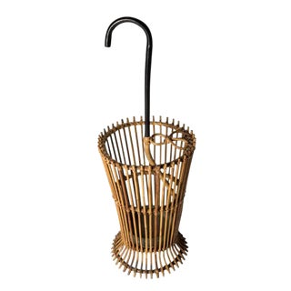A wicker umbrella stand - Italy, circa 1950