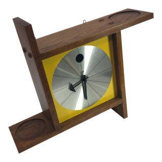 Elgin Mid Century Wall Clock Shelf For Sale