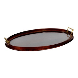 Edwardian Art Deco Mahogany Serving Tray For Sale
