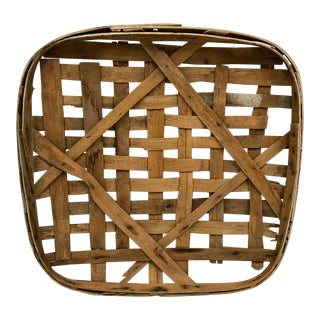 Early 1900s Kentucky Tobacco Basket Industrial Wall Art For Sale