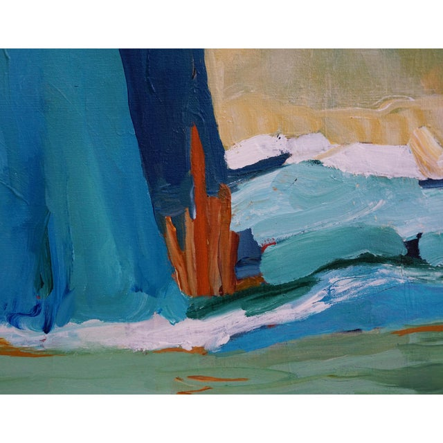 """Laurie MacMillan Laurie MacMillan """"New Wave"""" Abstract Seascape Painting For Sale - Image 4 of 7"""