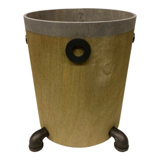 Industrial Wooden Trash Bin For Sale