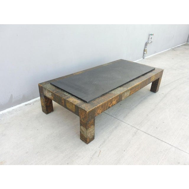 Mid-Century Modern 1970's Directional Paul Evans Patchwork Coffee Table For Sale - Image 3 of 9