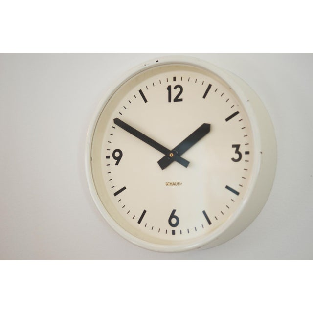 Industrial Industrial station clock by Schauer, 1964 For Sale - Image 3 of 8
