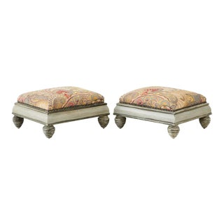 Mid-Century French Brunschwig and Fils Footstools - a Pair For Sale