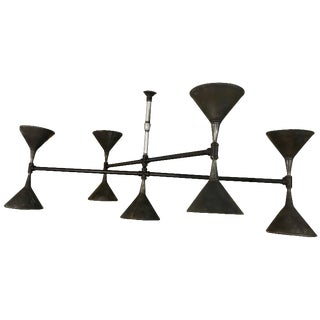 Modern Industrial Plumbers Pipe and Funnel Chandelier For Sale
