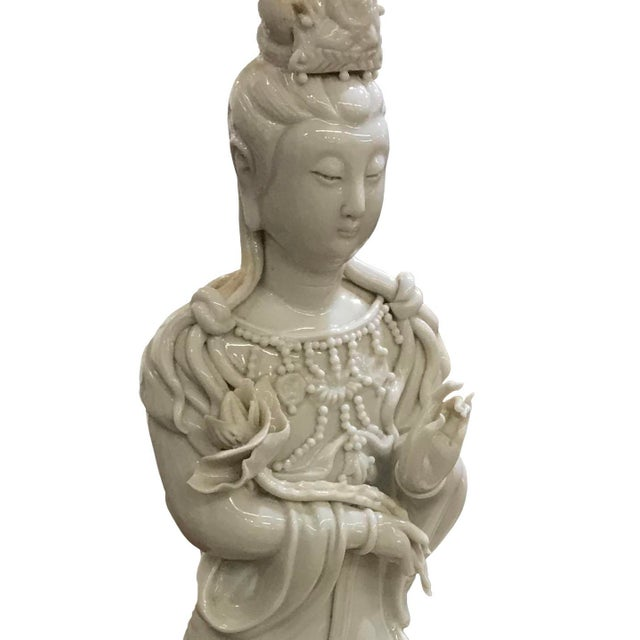 Figurative Mid 20th Century Chinese Blanc De Chine Figure on Elephant For Sale - Image 3 of 5