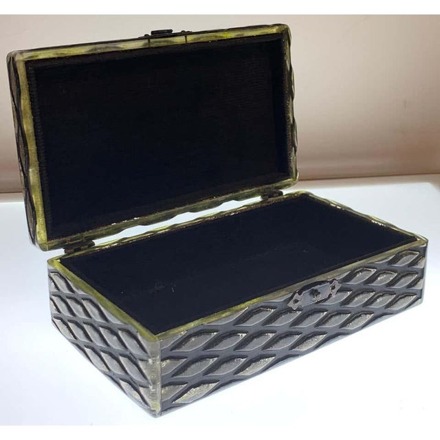 Art Deco French Art Deco Herringbone Celluloid Box For Sale - Image 3 of 13