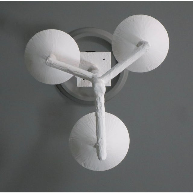 Not Yet Made - Made To Order 3 Cup Plaster Chandelier With White Finish For Sale - Image 5 of 9