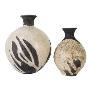 Vintage E. Jensen Art Pottery Vases - a Pair For Sale