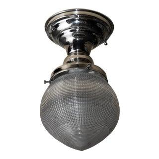 Holophane Prismatic Glass Pendant