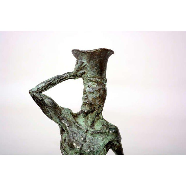 Pair of Mid-Century Modern Bronze Sculpture Holders For Sale - Image 10 of 10